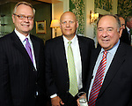 From left: Rick Terry, Larry Bell and Eduardo Aguirre at the Men of Distinction Luncheon at the River Oaks Country Club Wednesday May 05,2010.  (Dave Rossman Photo)