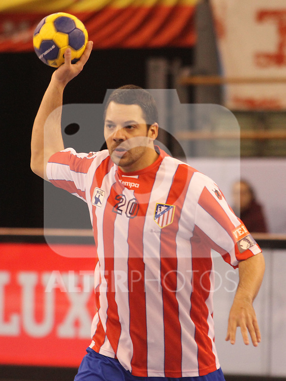 Balonmano Atletico de Madrid's Chema Rodriguez during EHF Champions League match.March 25 ,2012. (ALTERPHOTOS/Alberto Simon)