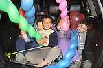 Palestinian children hold Balloons during take part in celebrations of the New Year's Eve festivities in the Gaza city of on Dec. 31, 2012. Photo by Ezz al-Zanoon
