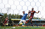 St Johnstone v Motherwell...22.08.15  SPFL   McDiarmid Park, Perth<br /> Steven MacLean scores St Johnstone's second goal<br /> Picture by Graeme Hart.<br /> Copyright Perthshire Picture Agency<br /> Tel: 01738 623350  Mobile: 07990 594431