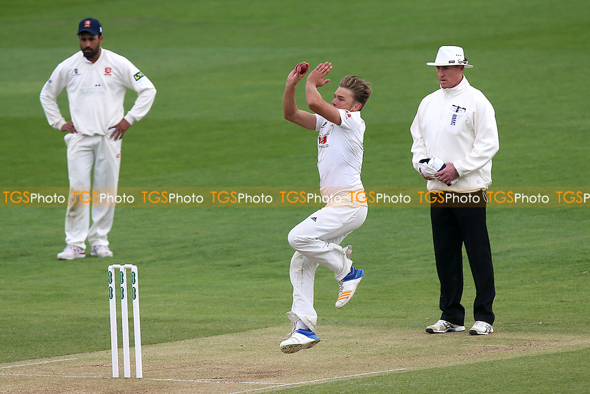 Aaron Beard in bowling action for Essex during Essex CCC vs Durham MCCU, English MCC University Match Cricket at The Cloudfm County Ground on 4th April 2017