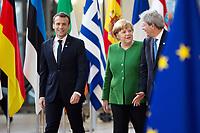 Emmanuel Macron attends the Informal meeting of European Union leaders - Brussels, Belgium