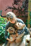 Deborah with Yokies.Toddy and Taffy