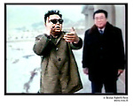 NR01143 / Kim Jong Il president de la Coree du Nord. La CorÈe du Nord a dÈclarÈ, jeudi 10 fÈvrier, s'etre dotee de la bombe atomique pour se proteger des Etats-Unis...Coree du Nord, 2005...© Nicolas Righetti/Rezo.. ..Kim Jong Il the president of North Korea...The North Korea declared, Thursday February 10, to have obtained the atomic bomb to protect itself from the United States..North Korea, 2005...© Nicolas Righetti/Rezo..