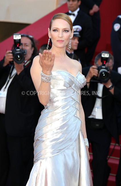 WWW.ACEPIXS.COM....US Sales Only....May 26 2013, Cannes....Uma Thurman at the premiere of 'Zulu' during the Cannes Film Festival on May 262013 in France ....By Line: Famous/ACE Pictures......ACE Pictures, Inc...tel: 646 769 0430..Email: info@acepixs.com..www.acepixs.com