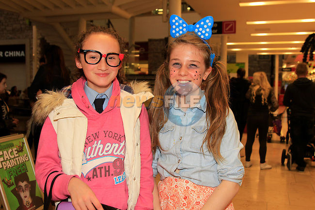 Kennedy Deer and Amy Boylan at the fancy dress in Scotch Hall<br /> Picture: www.newsfile.ie