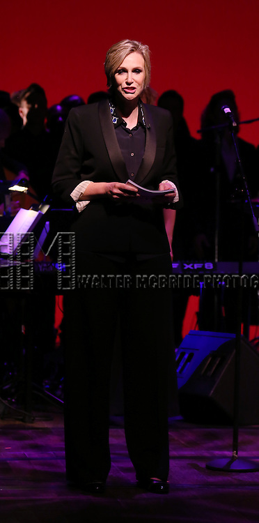 Jane Lynch performing at 'Uprising Of Love: A Benefit Concert For Global Equality' at the Gershwin Theatre on September 15, 2014 in New York City.