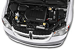 Car Stock 2017 Dodge Grand-Caravan SE 5 Door Minivan Engine  high angle detail view