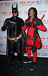 Les Twins arrive at Heidi Klum's 18th Annual Halloween Party presented by Party City and SVEDKA Vodka at Magic Hour Rooftop Bar & Lounge at Moxy Times Square, on October 31, 2017.
