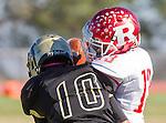 Palos Verdes, CA 10/21/16 - Jordan Jackson (Redondo Union #13) and Alex Martinez (Peninsula #10) in action during the CIF Southern Section Bay League Redondo Union - Palos Verdes Peninsula game at Peninsula High School.