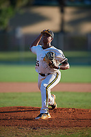 Jason Diaz during the WWBA World Championship at the Roger Dean Complex on October 20, 2018 in Jupiter, Florida.  Jason Diaz is a right handed pitcher from Franklin Square, New York who attends Kellenberg Memorial High School and is committed to Miami.  (Mike Janes/Four Seam Images)