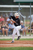 Tripp McKinlay (20) during the WWBA World Championship at the Roger Dean Complex on October 13, 2019 in Jupiter, Florida.  Tripp McKinlay attends Campolindo High School in Moraga, CA and is committed to Washington.  (Mike Janes/Four Seam Images)