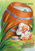 Ron, CUTE ANIMALS, Quacker, paintings, duck, barrel(GBSG8090,#AC#) Enten, patos, illustrations, pinturas