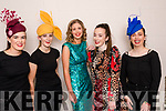 With hats from Patricia B Millinery & dresses from Clodagh Irwin-Owens Designs at the Intermediate School Killorglin Fashion Show on Thursday night<br /> L-R Kayleigh Moriarty, Edel Griffin, Jemma Key, Claudia Clifford & Amelie Schmahl.