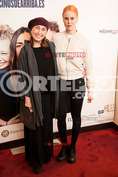 """Veronica Forque and her daughter Maria Forque attends to the premiere of the theater play """"Los Vecinos de Arriba"""" of the director Cesc Gayt at Teatro La Latina in Madrid. April 13, 2016. (ALTERPHOTOS/Borja B.Hojas)"""