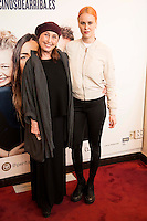 "Veronica Forque and her daughter Maria Forque attends to the premiere of the theater play ""Los Vecinos de Arriba"" of the director Cesc Gayt at Teatro La Latina in Madrid. April 13, 2016. (ALTERPHOTOS/Borja B.Hojas)"