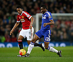 Anthony Martial of Manchester United tussles with Mikel John Obi of Chelsea - English Premier League - Manchester Utd vs Chelsea - Old Trafford Stadium - Manchester - England - 28th December 2015 - Picture Simon Bellis/Sportimage