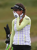 29th September 2017, Windross Farm, Auckland, New Zealand; LPGA McKayson NZ Womens Open, second;  Spain's Belen Mozo celebrates her hole in one on the 13th tee