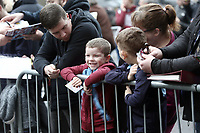 Burnley fans wait for the players to arrive ahead of kick-off<br /> <br /> Photographer Rich Linley/CameraSport<br /> <br /> The Premier League - Burnley v Everton - Wednesday 26th December 2018 - Turf Moor - Burnley<br /> <br /> World Copyright &copy; 2018 CameraSport. All rights reserved. 43 Linden Ave. Countesthorpe. Leicester. England. LE8 5PG - Tel: +44 (0) 116 277 4147 - admin@camerasport.com - www.camerasport.com