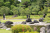 A wedding photo shoot and ceremony conducted at Nijo Castle.