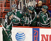 Brantley Sherwood (PSU - 17), Jack Astedt (PSU - 30), Zach Fox (PSU - 23), Matt Aponte (PSU - 14) - The visiting Plymouth State University Panthers defeated the Wentworth Institute of Technology Leopards 2-1 on Monday, November 19, 2012, at Matthews Arena in Boston, Massachusetts.