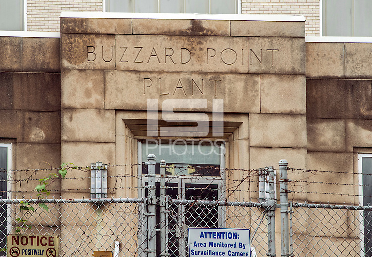 Washington D.C. - October 1, 2016: Circa 1932 Buzzards Point Plant. Buzzards Point area in Southwest Washington D.C. cleared for construction of the new soccer stadium for D.C. United scheduled to open in 2018.
