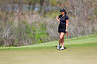 Olivia Mehaffey (NIR) on the 2nd during the second round of the Augusta National Womans Amateur 2019, Champions Retreat, Augusta, Georgia, USA. 04/04/2019.<br /> Picture Fran Caffrey / Golffile.ie<br /> <br /> All photo usage must carry mandatory copyright credit (&copy; Golffile | Fran Caffrey)