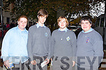 Brian Kerins, Jack O'Donnell, Jack McGaley and Dylan Kelly from CBS Tralee, at the Young Entrepreneur 2011 Blue Sky Day.