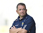 David Fitzgerald, Wexford Manager, during the closing stages of their All-Ireland quarter final at Pairc Ui Chaoimh. Photograph by John Kelly.