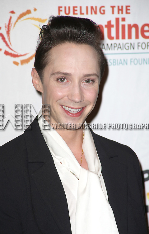 Johnny Weir backstage at 'Uprising Of Love: A Benefit Concert For Global Equality' at the Gershwin Theatre on September 15, 2014 in New York City.