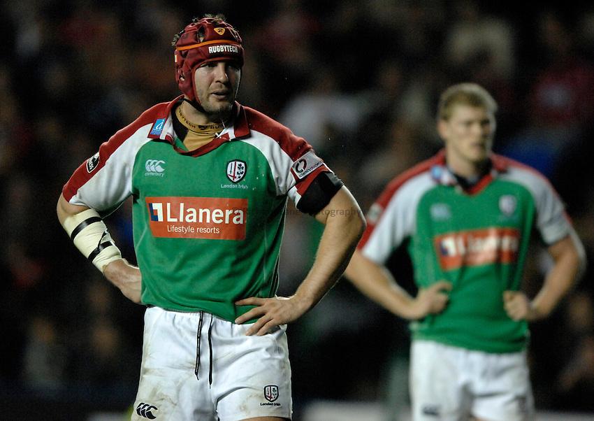 Photo: Richard Lane..London Irish v Llanelli Scarlets. Heineken Cup. 20/10/2006. .Aidan Mac Cullen of Irish.