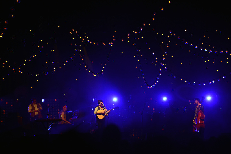 Mumford and Sons performs at the Monterey County Fairgrounds.