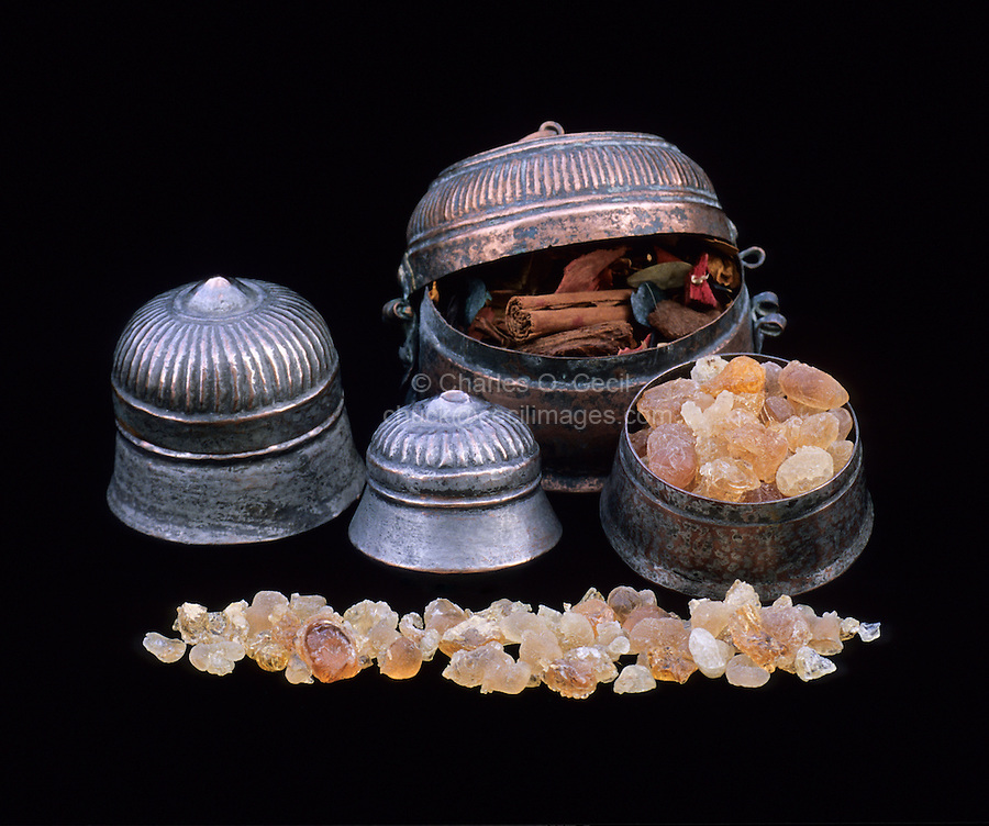Gum Arabic in Omani Tinned Pots.