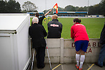 Ramsbottom United 1 Barwell 3, 03/10/2015. Riverside Stadium, Northern Premier League. The home club's new manager Phil Edgehill watching the action at the Harry Williams Riverside Stadium, home to Ramsbottom United as they played Barwell in a Northern Premier League premier division match. This was the club's 13th league game of the season and they were still to record their first victory following a 3-1 defeat, watched by a crowd of 176. Rams bottom United were formed by Harry Williams, the current chairman, in 1966 and progressed from local amateur football  in Bury to the semi-professional leagues. Photo by Colin McPherson.