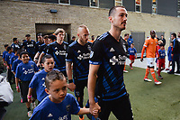 San Jose, CA - Saturday April 14, 2018: Francois Affolter prior to a Major League Soccer (MLS) match between the San Jose Earthquakes and the Houston Dynamo at Avaya Stadium.