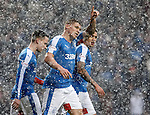 Martyn Waghorn celebrates his second goal
