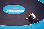CLEVELAND, OH - MARCH 10: Carlos Fuentez, of Wheaton, left, wrestles Jay Albis, of Johnson & Wales, in the 125 weight class during the Division III Men's Wrestling Championship held at the Cleveland Public Auditorium on March 10, 2018 in Cleveland, Ohio. Albis went on to win first place in the 125 weight class. (Photo by Jay LaPrete/NCAA Photos via Getty Images)