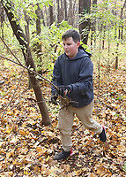 Students worked at removing invasive species of plants at Cool Creek Park in Westfield.  Freshman Sam Nolan