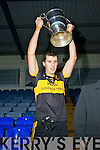 Dr Crokes Captain Michael Moloney with the cup after his team won the Senior Club Final at Fitzgerald Stadium on Saturday.