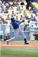 07/09/17 Los Angeles, CA: Kansas City Royals center fielder Lorenzo Cain #6 during an MLB game between the Los Angeles Dodgers and the Kansas City Royals played at Dodger Stadium.