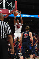 NWA Democrat Gazette/SPENCER TIREY  <br /> Daniel Gafford Dunk the ball against Samford, Friday Nov. 10, 2017 at Bud Walton Arena in Fayetteville. Arkansas won the game 95-56.