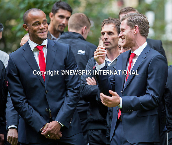 JAN VERTONGHEN AND VINCENT KOMPANY<br /> QUEEN MATHILDE AND KING PHILIPP<br /> meet members of the Belgian World Cup Football Team at the Royal Palace, Brussels_08/07/2014<br /> Mandatory Credit Photo: &copy;NEWSPIX INTERNATIONAL<br /> <br /> **ALL FEES PAYABLE TO: &quot;NEWSPIX INTERNATIONAL&quot;**<br /> <br /> IMMEDIATE CONFIRMATION OF USAGE REQUIRED:<br /> Newspix International, 31 Chinnery Hill, Bishop's Stortford, ENGLAND CM23 3PS<br /> Tel:+441279 324672  ; Fax: +441279656877<br /> Mobile:  07775681153<br /> e-mail: info@newspixinternational.co.uk