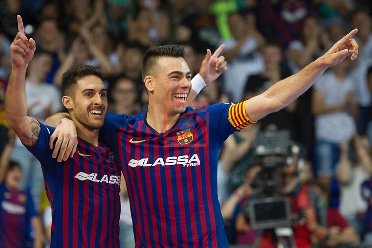 League LNFS 2018/2019.<br /> PlayOff Final. 1er. partido.<br /> FC Barcelona Lassa vs El Pozo Murcia: 7-2.<br /> Adolfo Fernandez & Sergio Lozano.