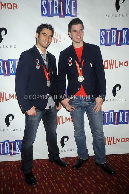WWW.ACEPIXS.COM . . . . . ....October 7 2008, New York City....Silver medalist Jason Rogers (L) and Tim Morehouse (R) at the 70th anniversary of Bowlmor Lanes on October 7, 2008 in New York City. ..Please byline: KRISTIN CALLAHAN - ACEPIXS.COM.. . . . . . ..Ace Pictures, Inc:  ..(646) 769 0430..e-mail: info@acepixs.com..web: http://www.acepixs.com
