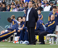 LA Galaxy Head Coach Bruce Arena made back from Milan in time for the match. The LA Galaxy defeated Boca Juniors 1-0 at Home Depot Center stadium in Carson, California on Sunday May 23, 2010.  .