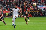 08.11.2018, BayArena, Leverkusen, Europaleque, Vorrunde, GER, UEFA EL, Bayer 04 Leverkusen (GER) vs. FC Zuerich (SUI),<br />  <br /> DFL regulations prohibit any use of photographs as image sequences and/or quasi-video<br /> <br /> im Bild / picture shows: <br /> Umaru Bangura (FC Zuerich #17), im Zweikampf gegen  Lucas Alario (Leverkusen #13), <br /> <br /> Foto &copy; nordphoto / Meuter<br /> <br /> <br /> <br /> Foto &copy; nordphoto / Meuter