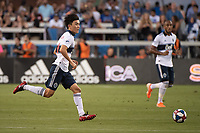 SAN JOSE, CA - AUGUST 24: Inbeom Hwang #4 of the Vancouver Whitecaps during a game between Vancouver Whitecaps FC and San Jose Earthquakes at Avaya Stadium on August 24, 2019 in San Jose, California.