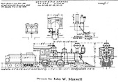 A John Maxwell drawing of D&amp;RG Class 42 American type engines #85-#88, #92-#96 and #99-#101.<br /> D&amp;RG    Taken by Maxwell, John W.