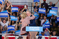Hillary Clinton hugs Al Gore at Rally in Miami, FL on October 11, 2016
