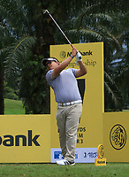 Panuphol Pittayarat (THA) in action on the 7th tee during Round 1 of the Maybank Championship at the Saujana Golf and Country Club in Kuala Lumpur on Thursday 1st February 2018.<br /> Picture:  Thos Caffrey / www.golffile.ie<br /> <br /> All photo usage must carry mandatory copyright credit (© Golffile | Thos Caffrey)
